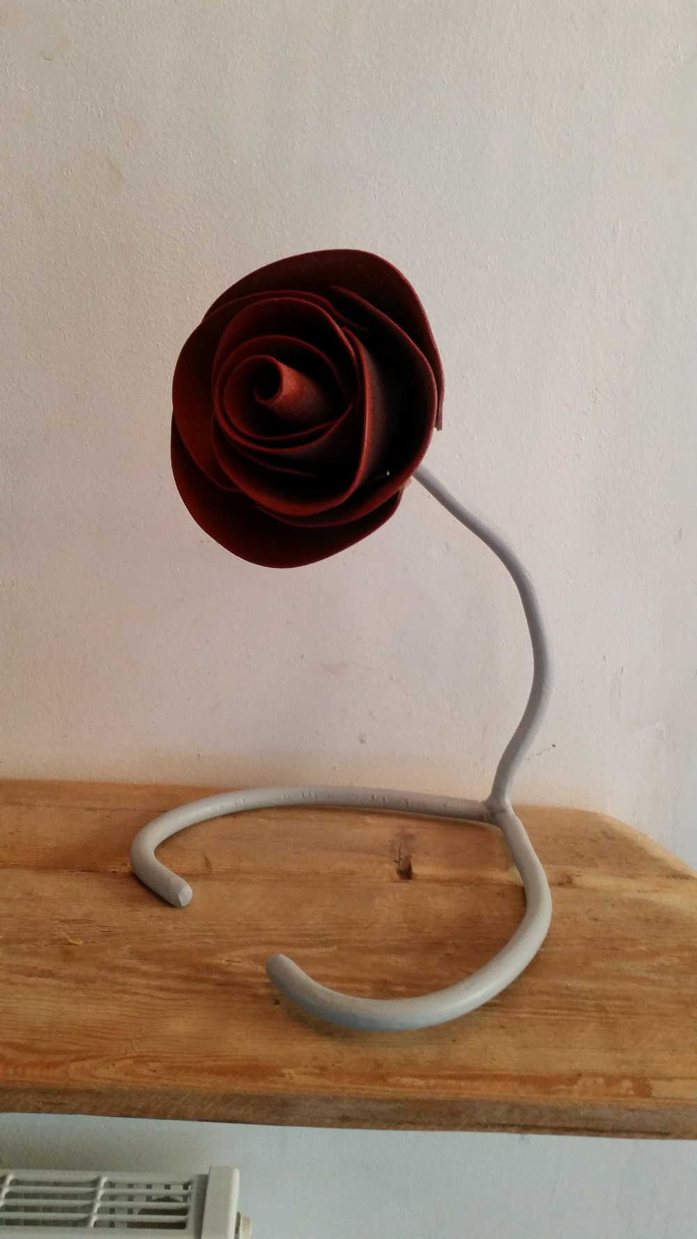 steel forged rose ornament