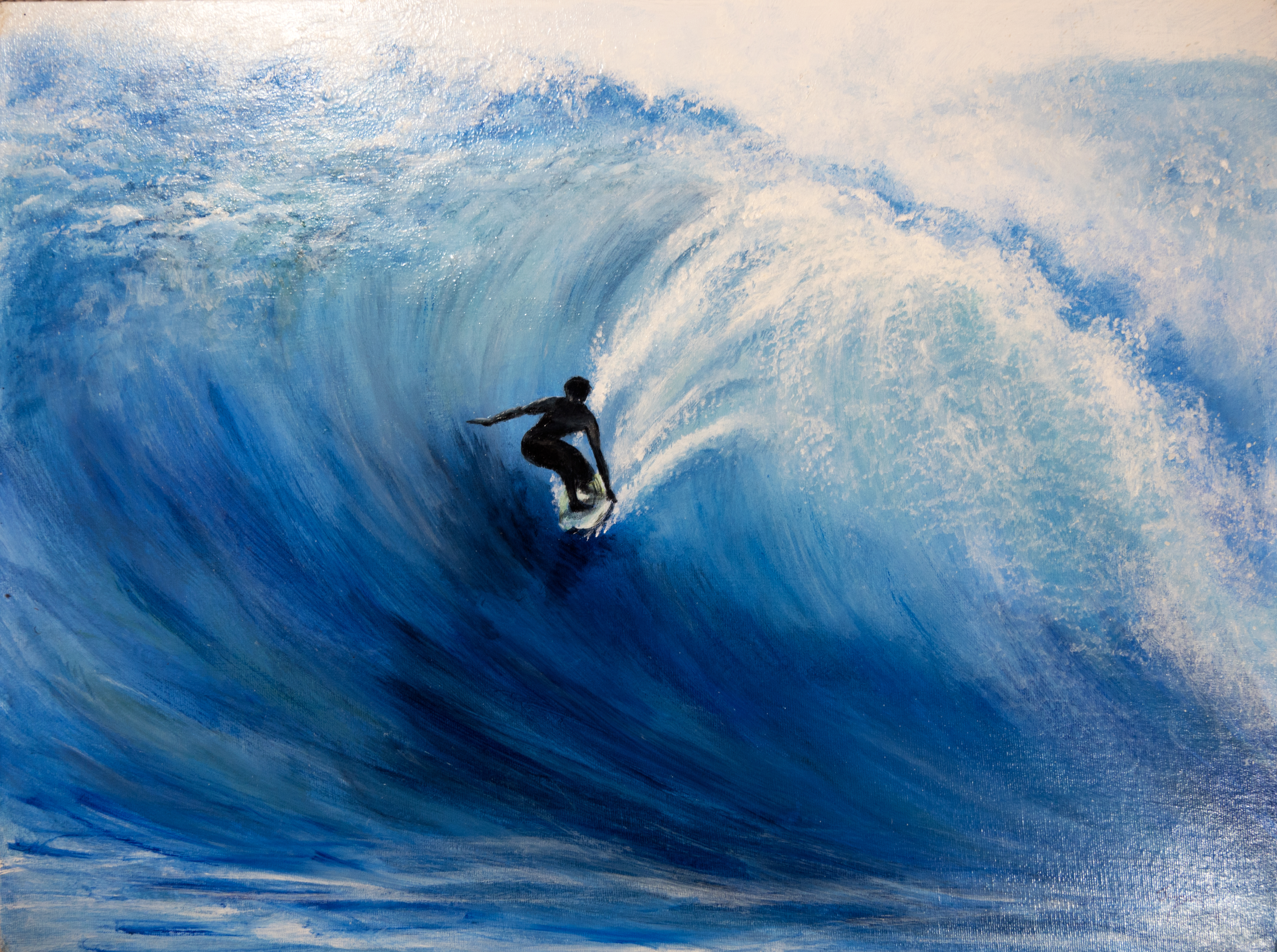 Big wave painting